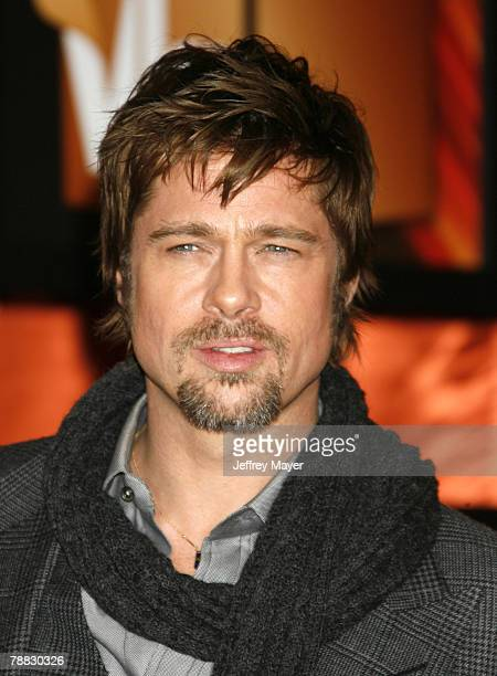 Actor Brad Pitt arrives at the 13th ANNUAL CRITICS' CHOICE AWARDS at the Santa Monica Civic Auditorium on January 7 2008 in Santa Monica California