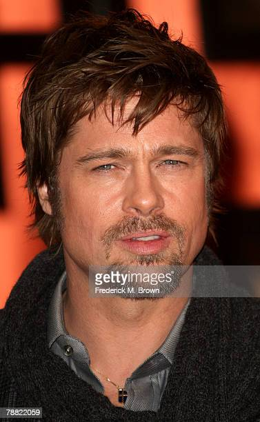 Actor Brad Pitt arrives at the 13th annual Critics' Choice Awards held at the Santa Monica Civic Auditorium on January 7 2008 in Santa Monica...