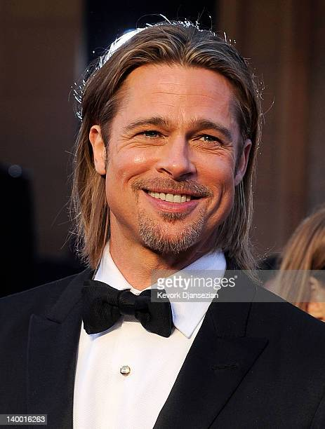 Actor Brad Pitt arrives at the 84th Annual Academy Awards held at the Hollywood Highland Center on February 26 2012 in Hollywood California