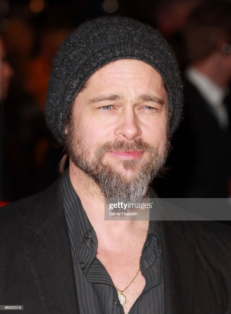 Actor Brad Pitt arrives at the 'Kick Ass' Premiere at the Empire Leicester Square on March 22, 2010 in London, England.