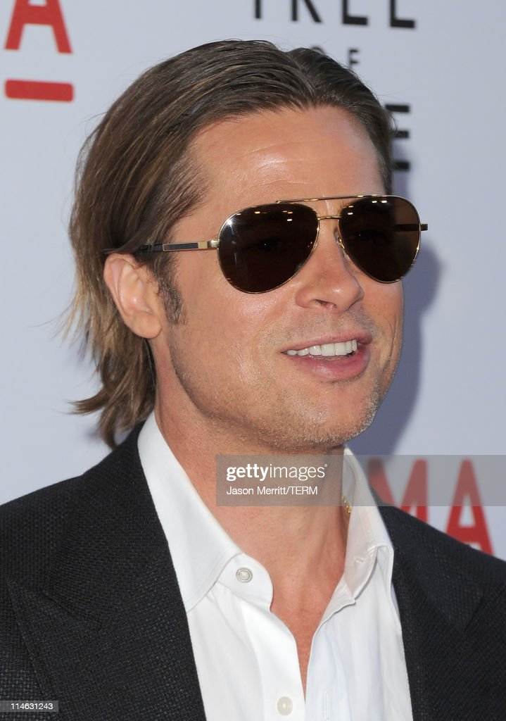 Actor Brad Pitt arrives at the premiere of Fox Searchlight Pictures' 'The Tree of Life' at the Bing Theatre at the Los Angeles County Museum of Art on May 24, 2011 in Los Angeles, California.