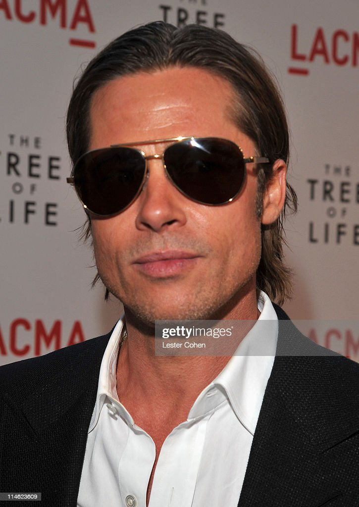 Actor Brad Pitt arrives at 'The Tree Of Life' Los Angeles Premiere at Bing Theatre at the Los Angeles County Museum of Art on May 24 2011 in Los...