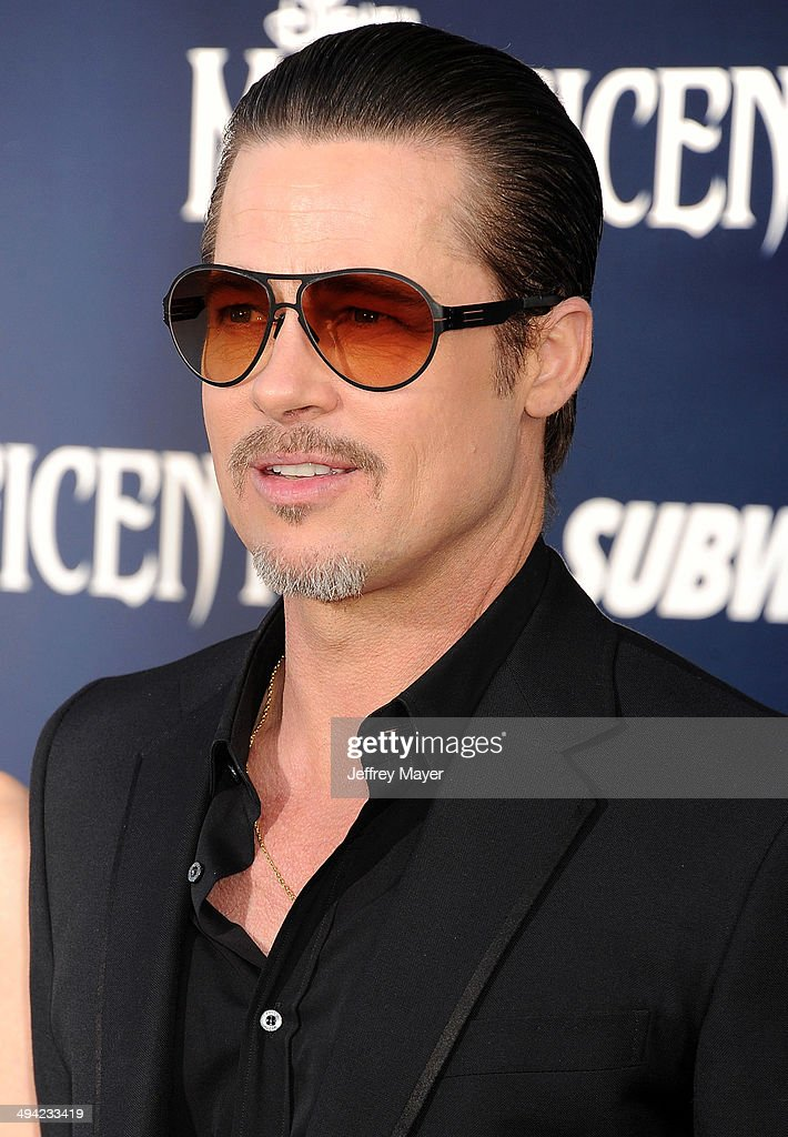 Actor <a gi-track='captionPersonalityLinkClicked' href=/galleries/search?phrase=Brad+Pitt+-+Actor&family=editorial&specificpeople=201682 ng-click='$event.stopPropagation()'>Brad Pitt</a> arrives at the World Premiere Of Disney's 'Maleficent' at the El Capitan Theatre on May 28, 2014 in Hollywood, California.