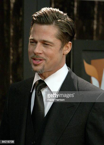 Actor Brad Pitt arrives at VH1's 14th Annual Critics' Choice Awards held at the Santa Monica Civic Auditorium on January 8 2009 in Santa Monica...