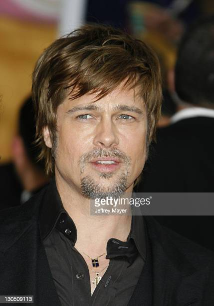 Actor Brad Pitt arrives to the 14th Annual Screen Actors Guild Awards at the Shrine Auditorium on January 27 2008 in Los Angeles California