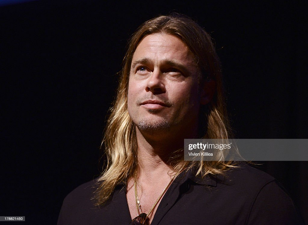 Actor <a gi-track='captionPersonalityLinkClicked' href=/galleries/search?phrase=Brad+Pitt+-+Actor&family=editorial&specificpeople=201682 ng-click='$event.stopPropagation()'>Brad Pitt</a> attends a Q&A for his film '12 Years A Slave' at the 2013 Telluride Film Festival - Day 2 on August 30, 2013 in Telluride, Colorado.