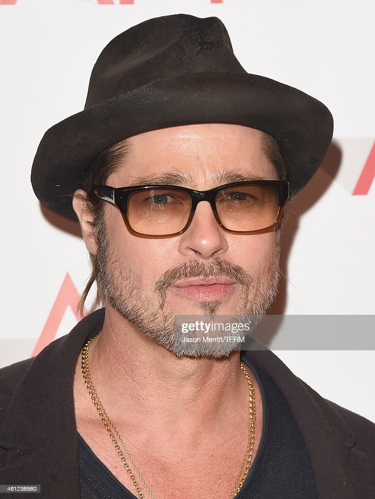 Actor <a gi-track='captionPersonalityLinkClicked' href=/galleries/search?phrase=Brad+Pitt+-+Actor&family=editorial&specificpeople=201682 ng-click='$event.stopPropagation()'>Brad Pitt</a> attends the 15th Annual AFI Awards at Four Seasons Hotel Los Angeles at Beverly Hills on January 9, 2015 in Beverly Hills, California.