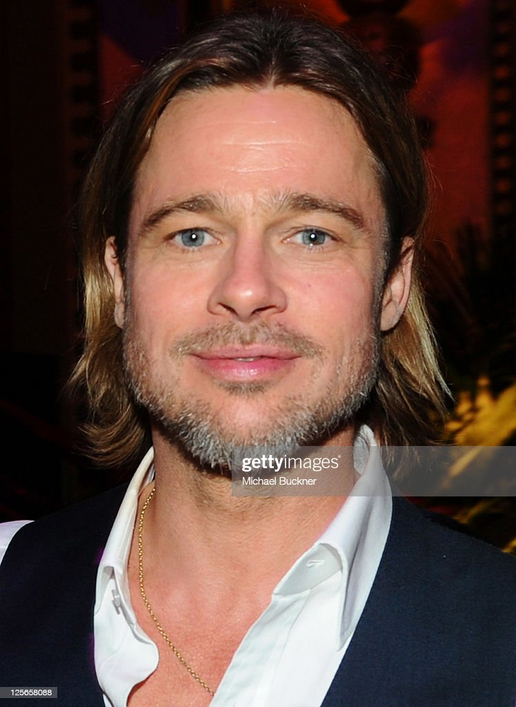 Actor Brad Pitt attends the after party for Columbia Pictures' 'Moneyball' at the Fox Theatre on September 19 2011 in Oakland California