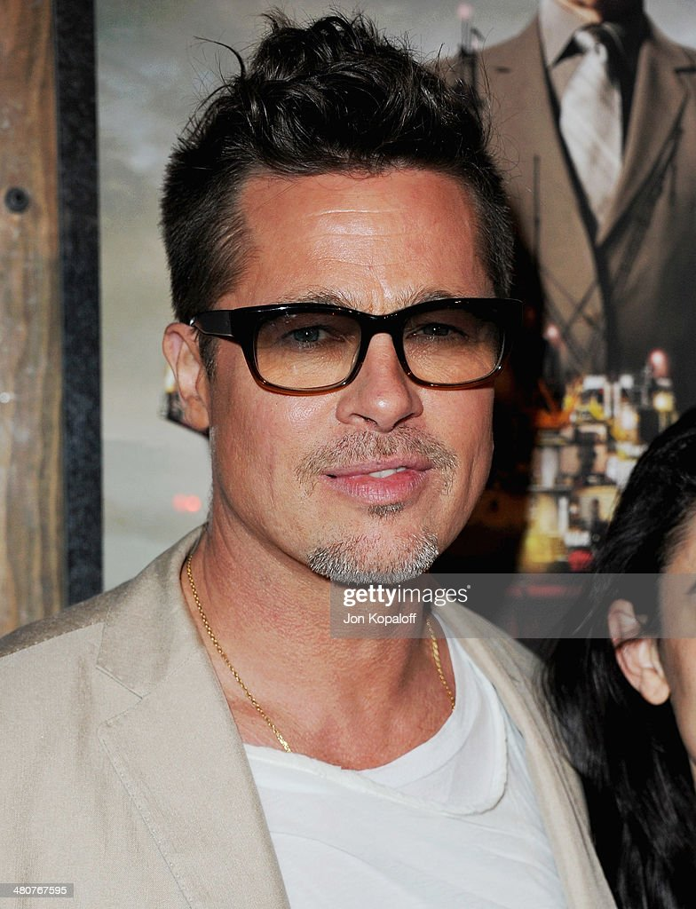 Actor <a gi-track='captionPersonalityLinkClicked' href=/galleries/search?phrase=Brad+Pitt+-+Actor&family=editorial&specificpeople=201682 ng-click='$event.stopPropagation()'>Brad Pitt</a> attends the Los Angeles Screening 'Big Men' at Sundance Sunset Cinema on March 26, 2014 in Los Angeles, California.