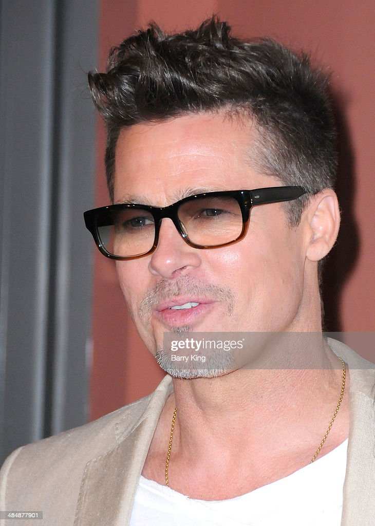 Actor <a gi-track='captionPersonalityLinkClicked' href=/galleries/search?phrase=Brad+Pitt+-+Actor&family=editorial&specificpeople=201682 ng-click='$event.stopPropagation()'>Brad Pitt</a> attends the Los Angeles Screening 'Big Men' on March 26, 2014 at Sundance Sunset Cinema in Los Angeles, California.