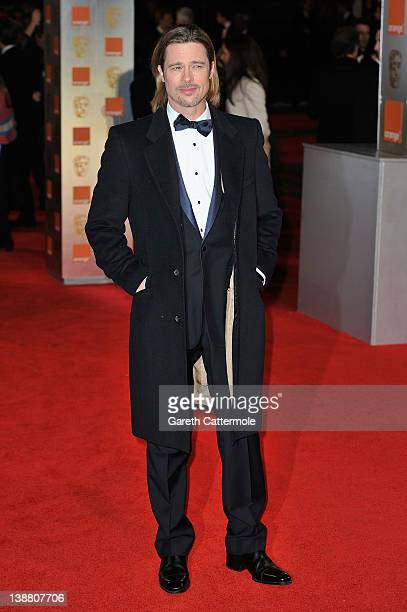 Actor Brad Pitt attends the Orange British Academy Film Awards 2012 at the Royal Opera House on February 12 2012 in London England