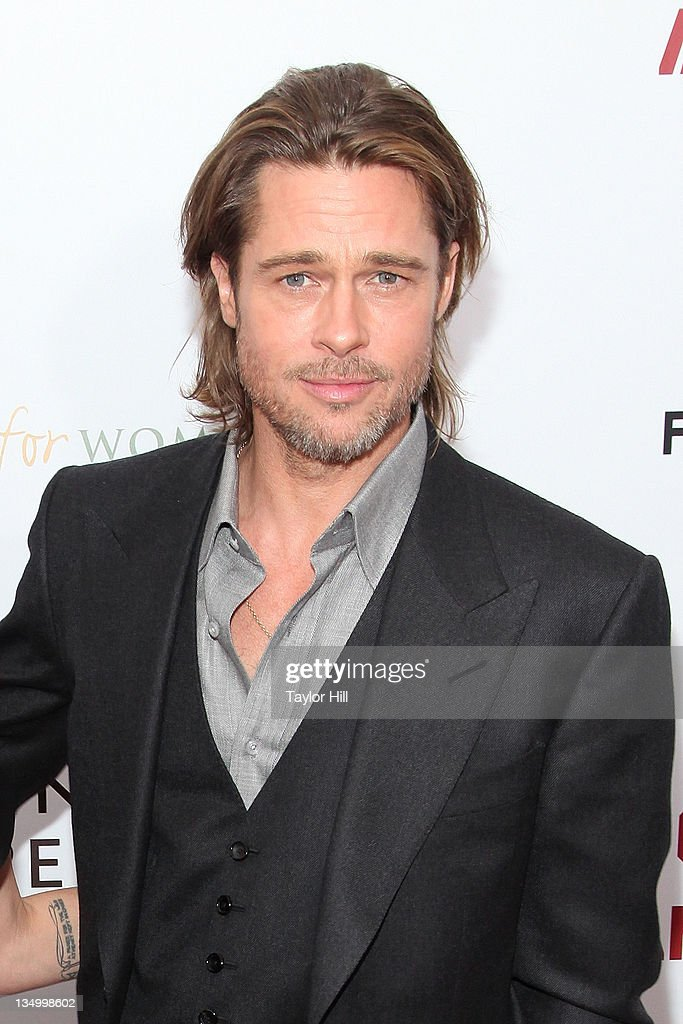 Actor <a gi-track='captionPersonalityLinkClicked' href=/galleries/search?phrase=Brad+Pitt+-+Actor&family=editorial&specificpeople=201682 ng-click='$event.stopPropagation()'>Brad Pitt</a> attends the premiere of 'In the Land of Blood and Honey' at the School of Visual Arts on December 5, 2011 in New York City.