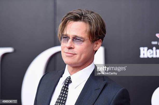 Actor Brad Pitt attends the premiere of 'The Big Short' at Ziegfeld Theatre on November 23 2015 in New York City