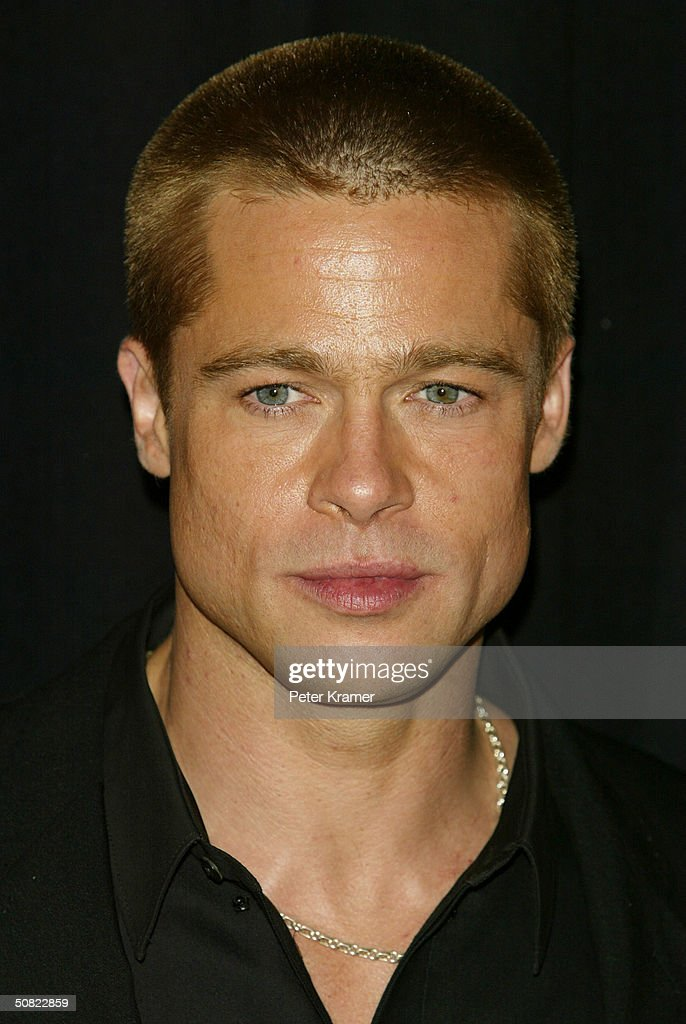 Actor <a gi-track='captionPersonalityLinkClicked' href=/galleries/search?phrase=Brad+Pitt+-+Actor&family=editorial&specificpeople=201682 ng-click='$event.stopPropagation()'>Brad Pitt</a> attends the premiere of 'Troy' on May 10, 2004 in New York City.
