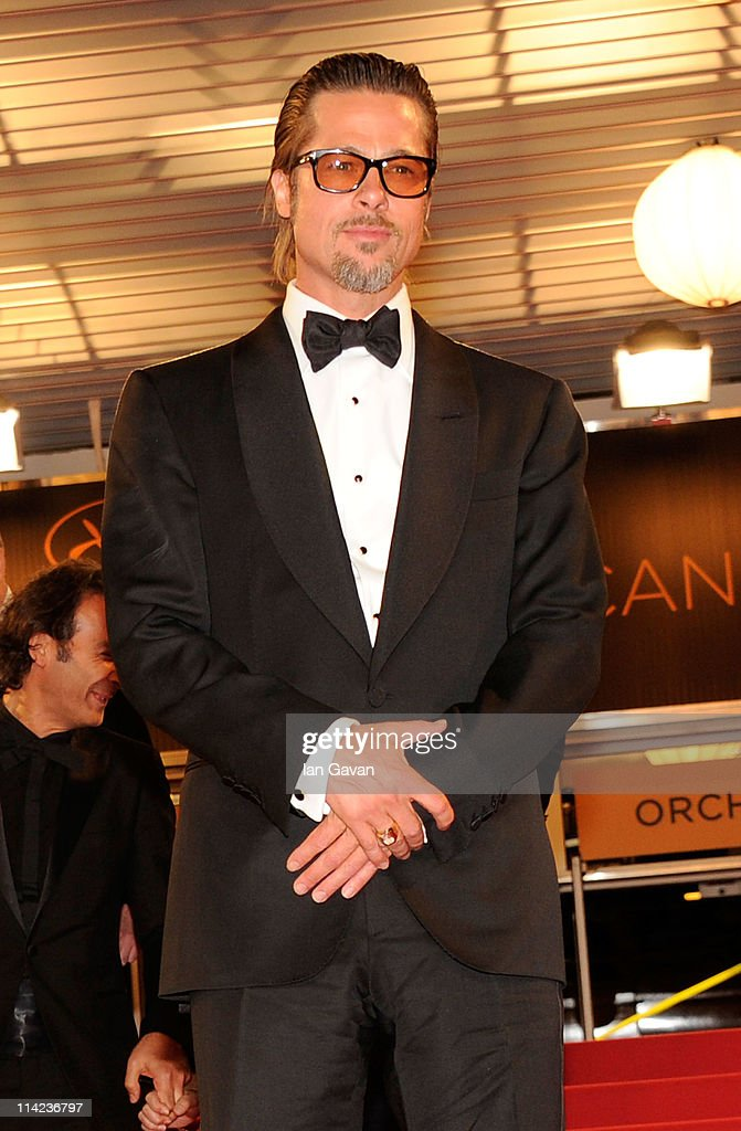 Actor <a gi-track='captionPersonalityLinkClicked' href=/galleries/search?phrase=Brad+Pitt+-+Attore&family=editorial&specificpeople=201682 ng-click='$event.stopPropagation()'>Brad Pitt</a> attends 'The Tree Of Life' premiere during the 64th Annual Cannes Film Festival at Palais des Festivals on May 16, 2011 in Cannes, France.