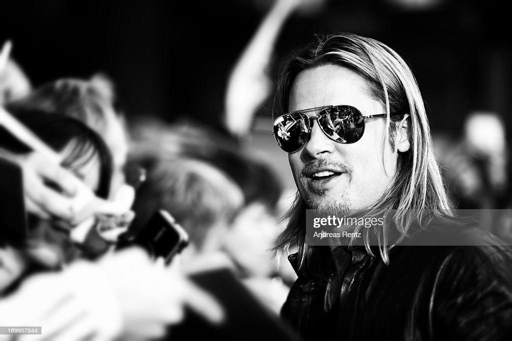 Actor Brad Pitt attends 'WORLD WAR Z' Germany Premiere at Sony Centre on June 4, 2013 in Berlin, Germany.