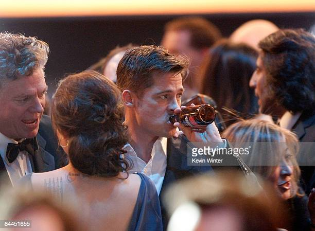 Actor Brad Pitt in the audience at the 15th Annual Screen Actors Guild Awards held at the Shrine Auditorium on January 25 2009 in Los Angeles...