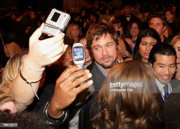 Actor Brad Pitt inside at the 13th ANNUAL CRITICS' CHOICE AWARDS at the Santa Monica Civic Auditorium on January 7 2008 in Santa Monica California