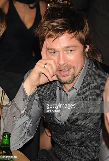 Actor Brad Pitt onstage at the 13th ANNUAL CRITICS' CHOICE AWARDS at the Santa Monica Civic Auditorium on January 7 2008 in Santa Monica California