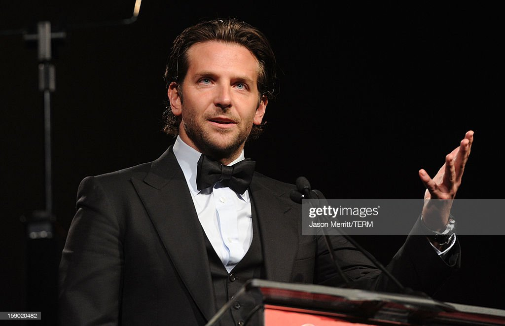 Actor Bradley Cooper accepts the Desert Palm Achievement Award onstage during the 24th annual Palm Springs International Film Festival Awards Gala at the Palm Springs Convention Center on January 5, 2013 in Palm Springs, California.