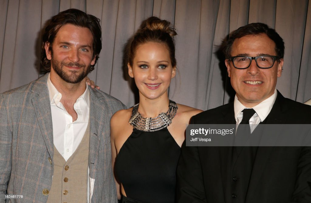 Actor <a gi-track='captionPersonalityLinkClicked' href=/galleries/search?phrase=Bradley+Cooper&family=editorial&specificpeople=680224 ng-click='$event.stopPropagation()'>Bradley Cooper</a>, actress <a gi-track='captionPersonalityLinkClicked' href=/galleries/search?phrase=Jennifer+Lawrence&family=editorial&specificpeople=1596040 ng-click='$event.stopPropagation()'>Jennifer Lawrence</a> and filmmaker <a gi-track='captionPersonalityLinkClicked' href=/galleries/search?phrase=David+O.+Russell&family=editorial&specificpeople=215306 ng-click='$event.stopPropagation()'>David O. Russell</a> attend the 2013 Film Independent Spirit Awards at Santa Monica Beach on February 23, 2013 in Santa Monica, California.