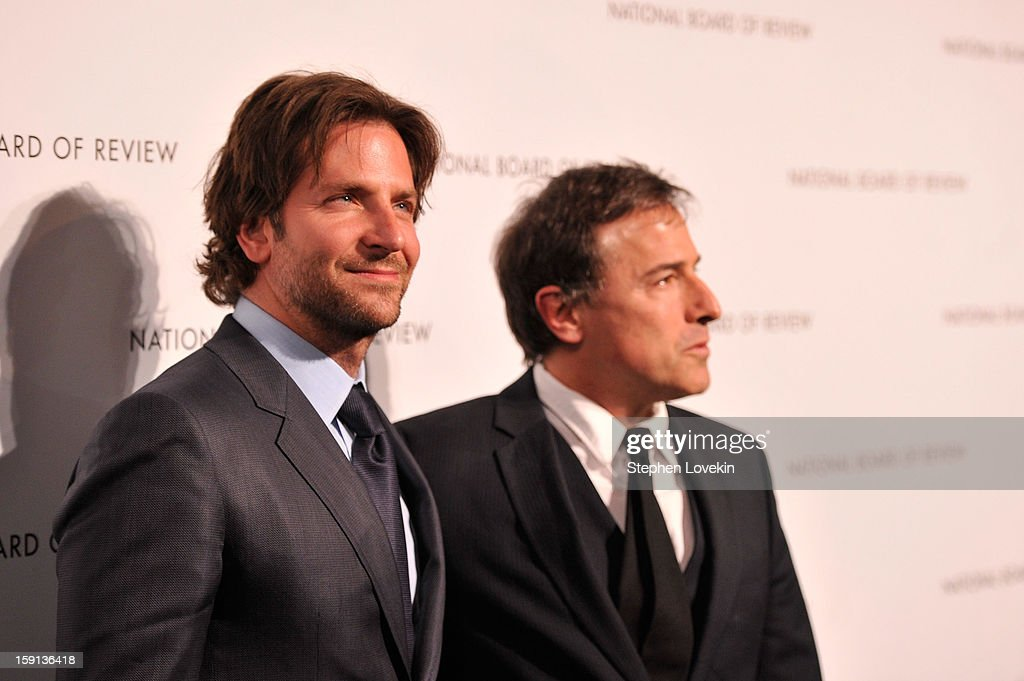 Actor <a gi-track='captionPersonalityLinkClicked' href=/galleries/search?phrase=Bradley+Cooper&family=editorial&specificpeople=680224 ng-click='$event.stopPropagation()'>Bradley Cooper</a> and Director <a gi-track='captionPersonalityLinkClicked' href=/galleries/search?phrase=David+O.+Russell&family=editorial&specificpeople=215306 ng-click='$event.stopPropagation()'>David O. Russell</a> attend the 2013 National Board Of Review Awards at Cipriani 42nd Street on January 8, 2013 in New York City.