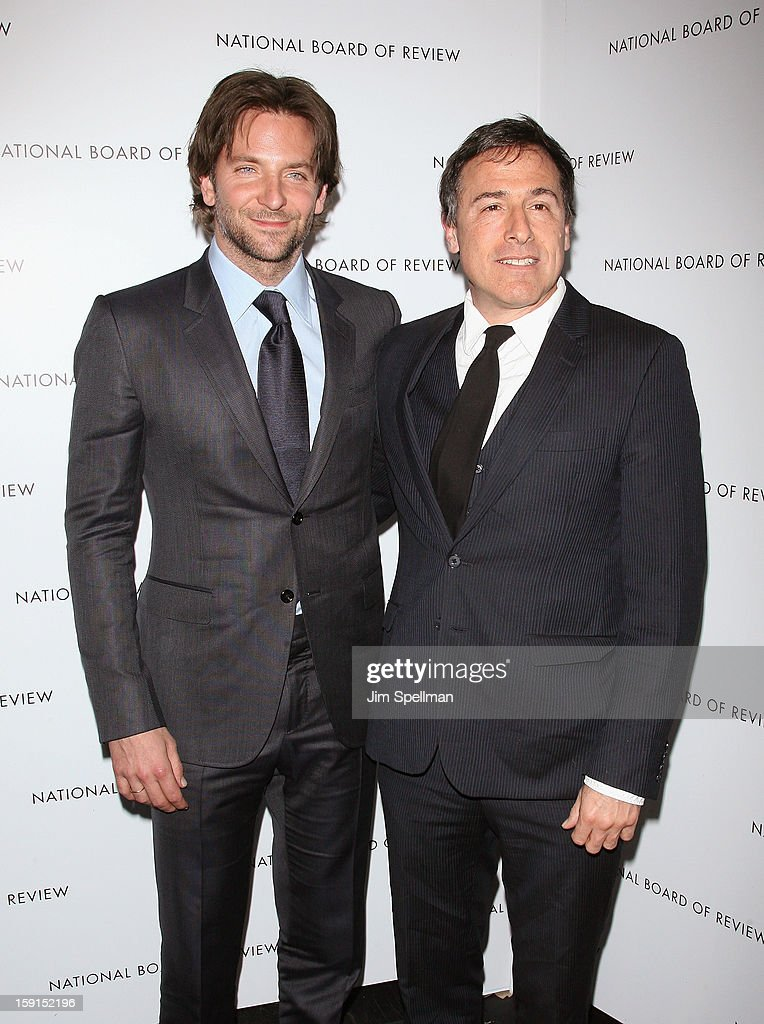 Actor Bradley Cooper and director David O. Russell attend the 2013 National Board Of Review Awards Gala at Cipriani Wall Street on January 8, 2013 in New York City.