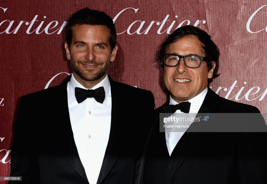 Actor <a gi-track='captionPersonalityLinkClicked' href=/galleries/search?phrase=Bradley+Cooper&family=editorial&specificpeople=680224 ng-click='$event.stopPropagation()'>Bradley Cooper</a> and director Daviid O'Russell arrive at the 25th Annual Palm Springs International Film Festival Awards Gala at Palm Springs Convention Center on January 4, 2014 in Palm Springs, California.