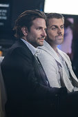 Actor Bradley Cooper and HodgkinÕs lymphoma survivor Anthony Daniels tape an interview at 'Good Morning America' at the ABC Times Square Studios on...