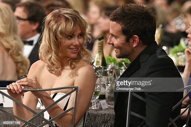 Actor Bradley Cooper and model Suki Waterhouse attend 20th Annual Screen Actors Guild Awards at The Shrine Auditorium on January 18 2014 in Los...