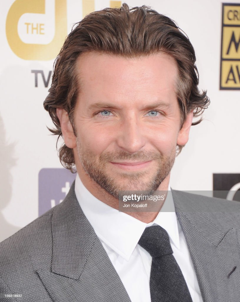 Actor Bradley Cooper arrives at the 18th Annual Critics' Choice Movie Awards at Barker Hangar on January 10, 2013 in Santa Monica, California.