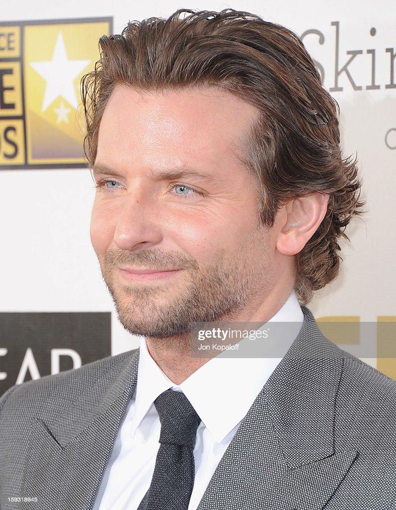 Actor Bradley Cooper arrives at the 18th Annual Critics' Choice Movie Awards at Barker Hangar on January 10, 2013 in Santa Monica, California.