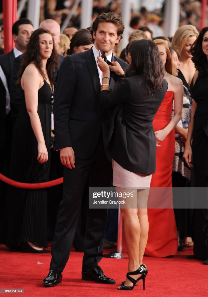 Actor <a gi-track='captionPersonalityLinkClicked' href=/galleries/search?phrase=Bradley+Cooper&family=editorial&specificpeople=680224 ng-click='$event.stopPropagation()'>Bradley Cooper</a> arrives at the 19th Annual Screen Actors Guild Awards held at The Shrine Auditorium on January 27, 2013 in Los Angeles, California.