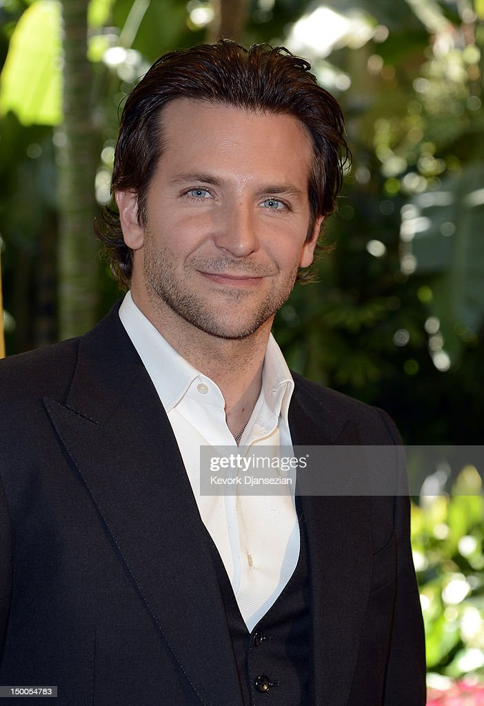 Actor <a gi-track='captionPersonalityLinkClicked' href=/galleries/search?phrase=Bradley+Cooper&family=editorial&specificpeople=680224 ng-click='$event.stopPropagation()'>Bradley Cooper</a> arrives at the Hollywood Foreign Press Association's 2012 Installation Luncheon held at the Beverly Hills Hotel on August 9, 2012 in Beverly Hills, California.