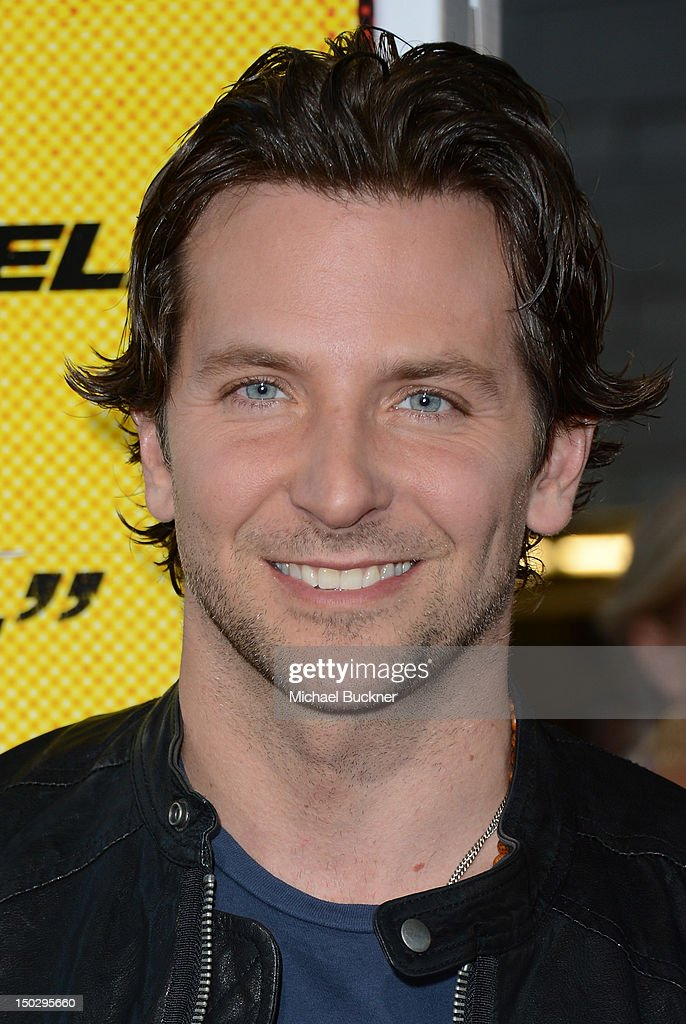 Actor <a gi-track='captionPersonalityLinkClicked' href=/galleries/search?phrase=Bradley+Cooper&family=editorial&specificpeople=680224 ng-click='$event.stopPropagation()'>Bradley Cooper</a> arrives at the premiere of Open Road Films' 'Hit & Run' at the Regal Cinemas L.A. Live on August 14, 2012 in Los Angeles, California.
