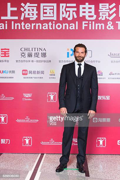 Actor Bradley Cooper arrives for the red carpet of the 19th Shanghai International Film Festival at Shanghai Grand Theatre on June 11 2016 in...