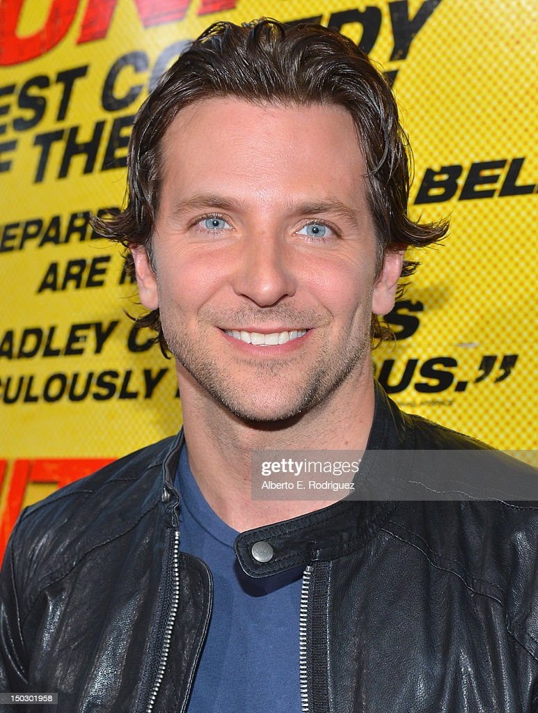Actor <a gi-track='captionPersonalityLinkClicked' href=/galleries/search?phrase=Bradley+Cooper&family=editorial&specificpeople=680224 ng-click='$event.stopPropagation()'>Bradley Cooper</a> arrives to the premiere of Open Road Films' 'Hit and Run' on August 14, 2012 in Los Angeles, California.