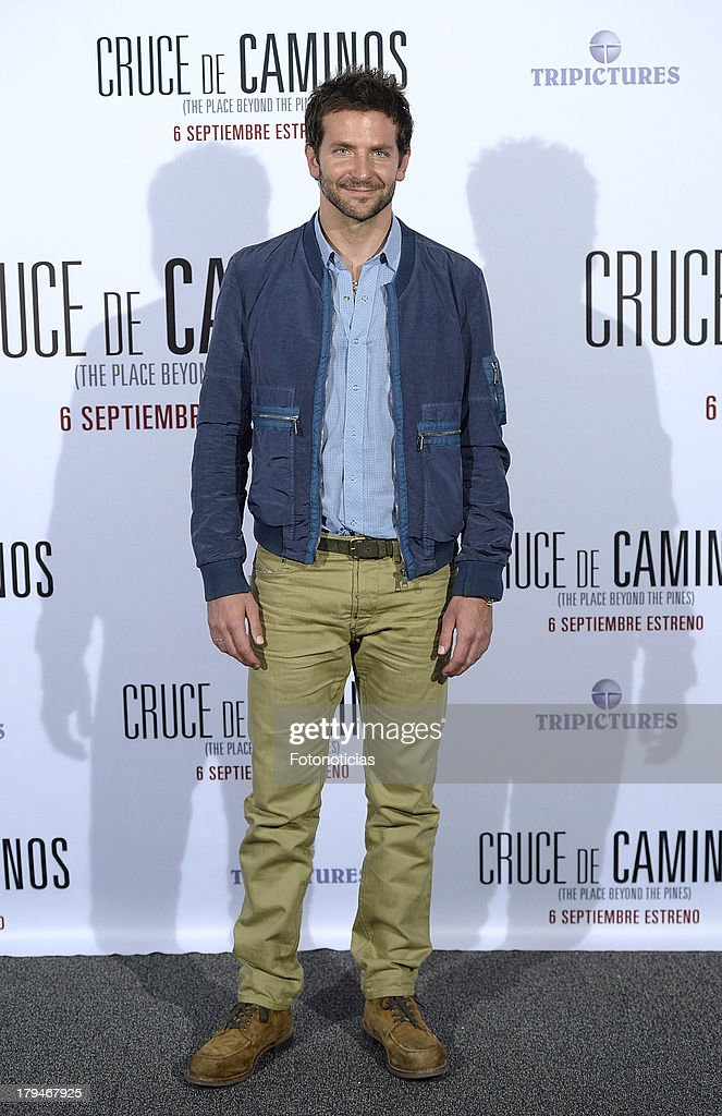 Actor Bradley Cooper attends a photocall for 'The Place Beyond The Pines' (Cruce de Caminos) at Santo Mauro Hotel on September 4, 2013 in Madrid, Spain.