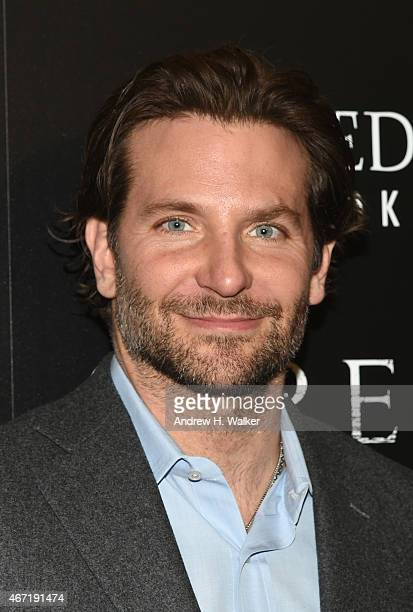 Actor Bradley Cooper attends a screening of 'Serena' hosted by Magnolia Pictures and The Cinema Society with Dior Beauty on March 21 2015 in New York...