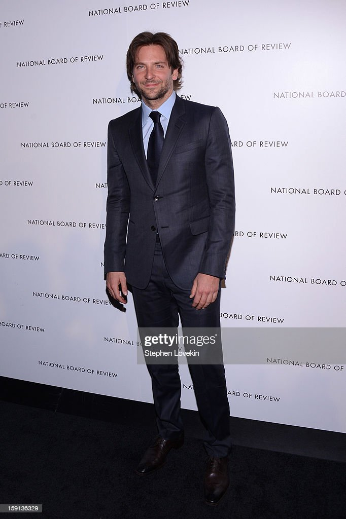 Actor <a gi-track='captionPersonalityLinkClicked' href=/galleries/search?phrase=Bradley+Cooper&family=editorial&specificpeople=680224 ng-click='$event.stopPropagation()'>Bradley Cooper</a> attends the 2013 National Board Of Review Awards Gala at Cipriani 42nd Street on January 8, 2013 in New York City.