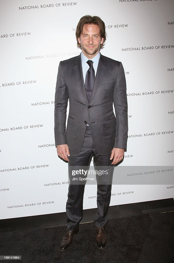 Actor <a gi-track='captionPersonalityLinkClicked' href=/galleries/search?phrase=Bradley+Cooper&family=editorial&specificpeople=680224 ng-click='$event.stopPropagation()'>Bradley Cooper</a> attends the 2013 National Board Of Review Awards Gala at Cipriani Wall Street on January 8, 2013 in New York City.