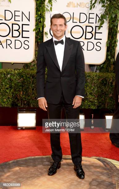 Actor Bradley Cooper attends the 71st Annual Golden Globe Awards held at The Beverly Hilton Hotel on January 12 2014 in Beverly Hills California