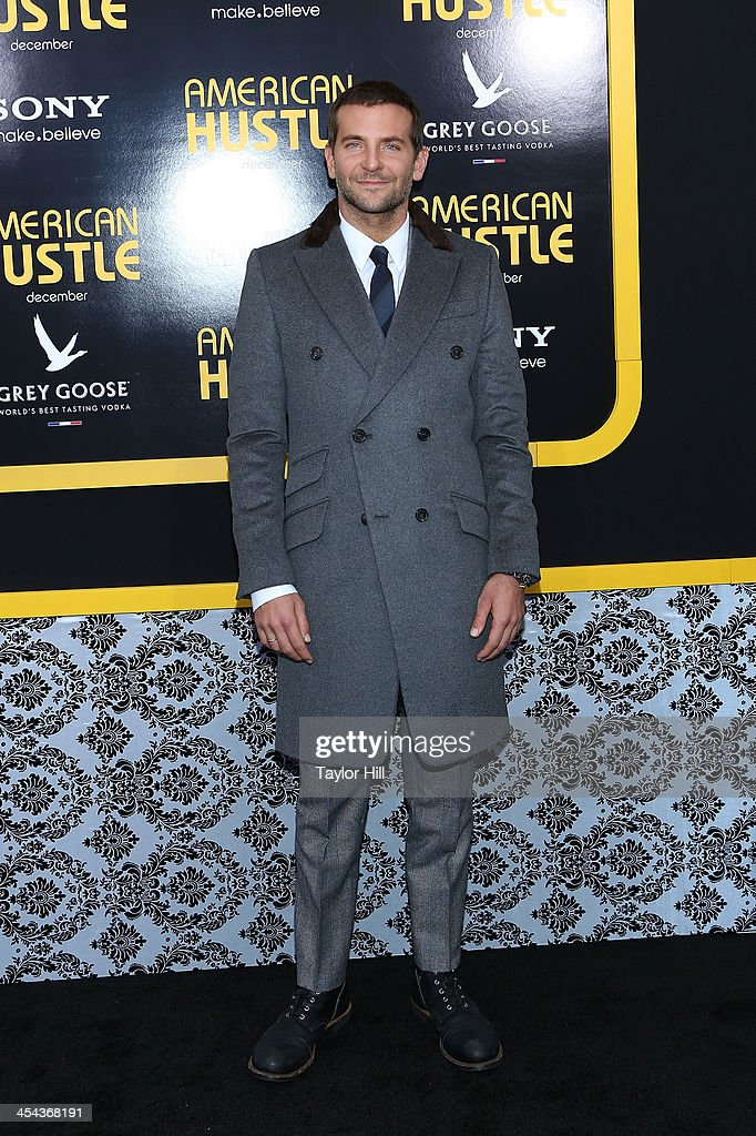 Actor <a gi-track='captionPersonalityLinkClicked' href=/galleries/search?phrase=Bradley+Cooper&family=editorial&specificpeople=680224 ng-click='$event.stopPropagation()'>Bradley Cooper</a> attends the 'American Hustle' screening at Ziegfeld Theater on December 8, 2013 in New York City.