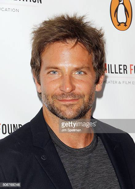 Actor Bradley Cooper attends the Arthur Miller One Night 100 Years Benefit at Lyceum Theatre on January 25 2016 in New York City