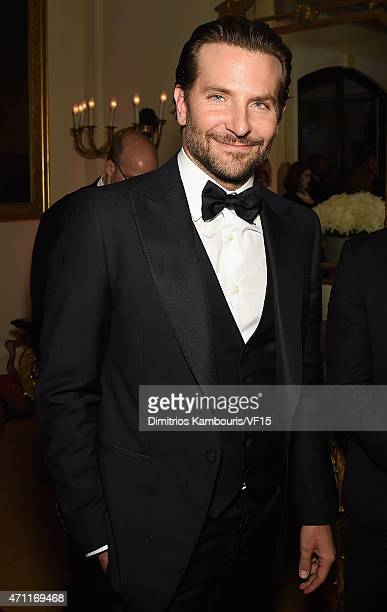 Actor Bradley Cooper attends the Bloomberg Vanity Fair cocktail reception following the 2015 WHCA Dinner at the residence of the French Ambassador on...
