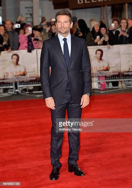Actor Bradley Cooper attends the 'Burnt' European premiere at the Vue West End on October 28 2015 in London England