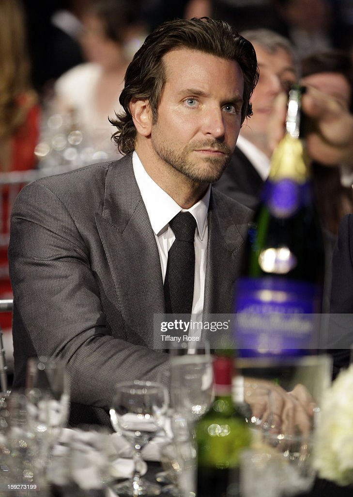 Actor <a gi-track='captionPersonalityLinkClicked' href=/galleries/search?phrase=Bradley+Cooper&family=editorial&specificpeople=680224 ng-click='$event.stopPropagation()'>Bradley Cooper</a> attends the Critics' Choice Movie Awards 2013 with Champagne Nicolas Feuillatte at Barkar Hangar on January 10, 2013 in Santa Monica, California.