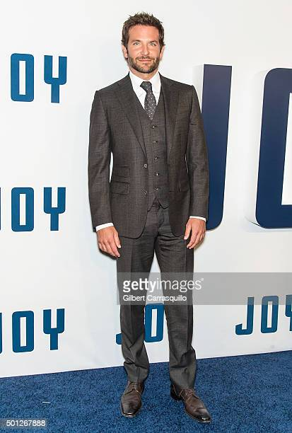 Actor Bradley Cooper attends the 'Joy' New York premiere at Ziegfeld Theater on December 13 2015 in New York City