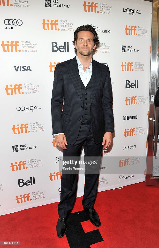 Actor <a gi-track='captionPersonalityLinkClicked' href=/galleries/search?phrase=Bradley+Cooper&family=editorial&specificpeople=680224 ng-click='$event.stopPropagation()'>Bradley Cooper</a> attends 'The Place Beyond The Pines' premiere during the 2012 Toronto International Film Festival at Princess of Wales Theatre on September 7, 2012 in Toronto, Canada.