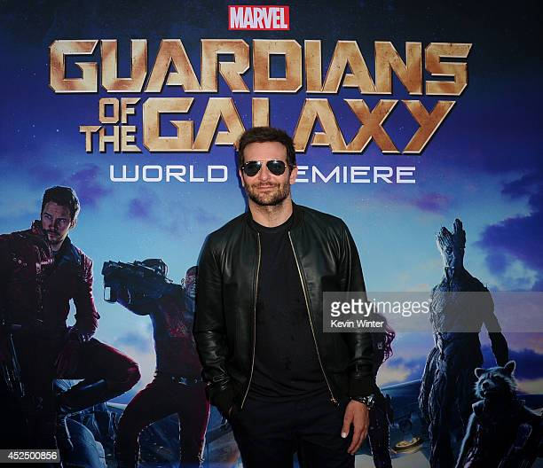 Actor Bradley Cooper attends the premiere of Marvel's 'Guardians Of The Galaxy' at the Dolby Theatre on July 21 2014 in Hollywood California